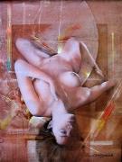 tableau nus charme erotique nue la renversee : La renversée