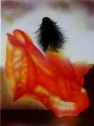 tableau personnages robe lumiere brune soleil : La robe de mille feux