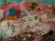 tableau marine poisson marin recif especes : fond marin