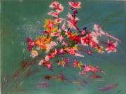 tableau fleurs orchidees fleurs vert bouquet : Frais bouquet