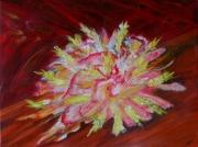 tableau abstrait abstraite marron fleurs : Imaginaire