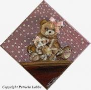 tableau autres ours pois chambre jouet : Maman ourse et son oursonne