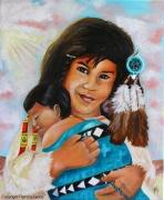 tableau personnages bebe indien bijoux attrappe reves : Mon petit frère