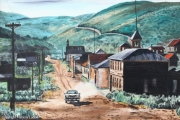tableau ville fantome maison voiture americaine : Bodie, ville fantôme