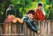 tableau personnages enfant roumanie village campagne : Enfants des Maramures