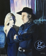 tableau personnages musique country chanteur chapeau : Garth Brook et Trisha Yearwood