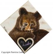 tableau autres ours enfant peluche chambre : Ours brun le gardien de ma chambre