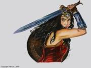 dessin personnages wonder woman femme guerriere comics : Wonder woman
