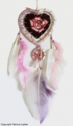 tableau fleur rose coeur attrapereves : Rose dreamcatcher