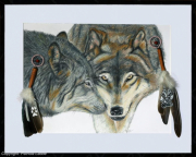 tableau animaux loups wolf wolves fidelite : Fidelity-