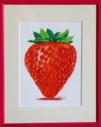 dessin fruits fruit fraise gourmand rouge : Fraise