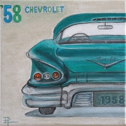 tableau voiture collection americaine vintage : Chevrolet '58