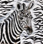 tableau animaux zebre rayure savane afrique : Le zèbreau