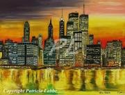 tableau villes new york manhattan amerique usa : City of light-New-York