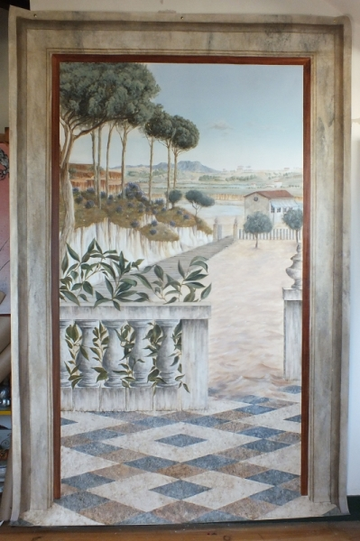 TABLEAU PEINTURE paysage mer Trompe l'oeil grand format Paysages Acrylique  - Paysage provençal