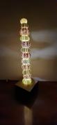 artisanat dart marine luminaire coquillage eclairage lumiere : totem oursin