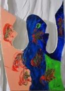 tableau abstrait couteau brut abstrait huile : Saine Délivrance
