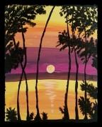 tableau paysages paisible crepuscule nuit : CREPUSCULE