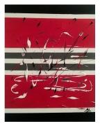tableau abstrait rouge noir abstrait : EN ROUGE ET NOIR