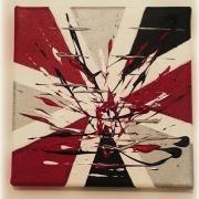 tableau abstrait rouge noir : EN ROUGE ET NOIR