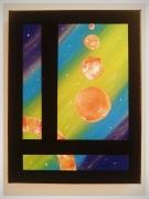 tableau abstrait galaxie paradis celeste evasion : PARADIS CELESTE