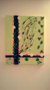 tableau abstrait vert peter pan abstrait evasion : CLOCHETTE