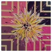 tableau abstrait fleurs vivacite eclat : MERVEILLE FLEURIE
