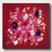 tableau abstrait amour rouge abstrait chamallow : LOVELY CHAMALLOW