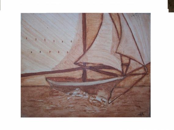 DESSIN bateau voile terre marine Marine  - bateau et voile