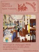 photo scene de genre st valentin montmartre ,a la pomponnette cafe : a la pomponnette