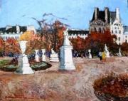 tableau paysages tuileries jardin automne : les tuileries