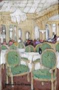 tableau scene de genre interieur de cafe paris : salon de thé Angélina