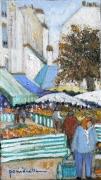tableau paysages marche mouffetard paris 6 : marché mouffetard