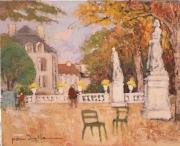 tableau paysages paris : Au jardin  du luxembourg