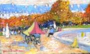 tableau paysages bassin tuileries voiliers : le grand bassin des Tuileries