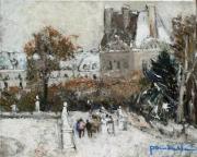 tableau paysages paris : Le jardin des Tuileries