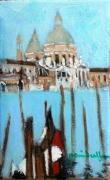 tableau marine venise la salute gondole : la Salute Venise