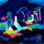 tableau marine paysages marines expressionisme : HAUTS  VENTS