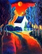 tableau paysages paysage fauvisme expressionnisme futurisme : EQUINOXE