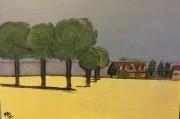 tableau paysages : Champ de colza