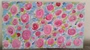 tableau fleurs fleurs : fleurs lys  eau