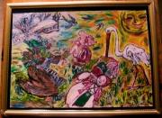 tableau abstrait bonne fete de mamie marta : Bonne Fête de Mamie Marta