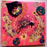 tableau abstrait : Fête Halloween!