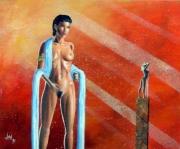 tableau nus femme nue reve surrealiste : Rêverie