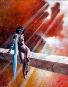 tableau nus surrealiste femme nue : Introspection
