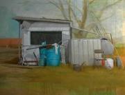 tableau paysages caravane jardin sauvage abandon : L'Abri