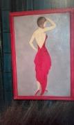 tableau personnages couleur toile cadeau peinture : babeth