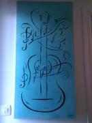 tableau autres musique cadeaux couleur dessin : GUITARE