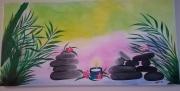 tableau autres zen couleur bougie tableau peinture dessin : zen