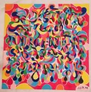 dessin abstrait couleurs drssin tableaux cadeaux : Collection Mystère
